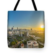 Epic And Beautiful Sunrise At Kuala Lumpur City Center Tote Bag