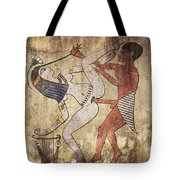 Erotic Drawing Looks Like Fresco Tote Bag
