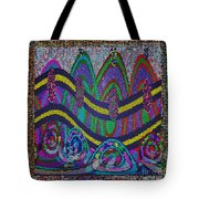 Ethnic Wedding Decorations Abstract Usring Fabrics Ribbons Graphic Elements Tote Bag