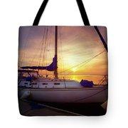 Evening Harbor At Rest Tote Bag