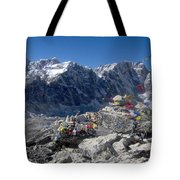 Everest Prayer Flags Tote Bag