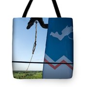 Extreme Sports Ropejumping Tote Bag