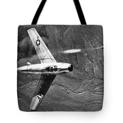 F-86 Jet Fighter Plane Tote Bag