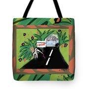 Fantasy Animals Catch A Bus Tote Bag