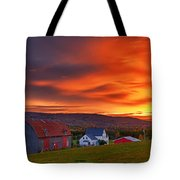 Farm At Sunset In Wentworth Valley Tote Bag