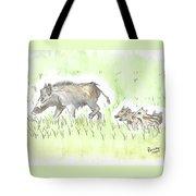 Feral Hogs Tote Bag