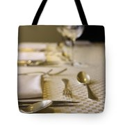 Festive Table Setting For A Formal Dinner  Tote Bag
