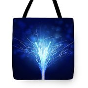 Fiber Optics And Circuit Board Tote Bag