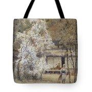 Figure In A Japanese Landscape Tote Bag