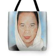 Filipina Woman Wearing A Scarf Tote Bag