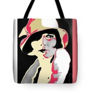 Film Homage Louise Brooks In Flapper Hat 1927-2013 Tote Bag