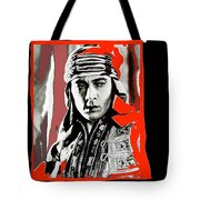 Film Homage Rudolph Valentino The Shiek 1921 Collage Color Added 2008 Tote Bag