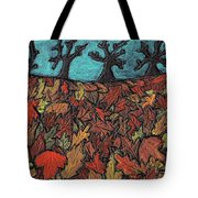 Finding Autumn Leaves Tote Bag