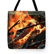 Fire At The Beach IIi Tote Bag by Mariola Bitner