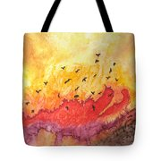 Fire Birds Tote Bag