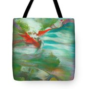Fire Breathing Fox Tote Bag