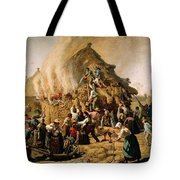 Fire In A Haystack Tote Bag