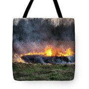 Fires Sunset Landscape Tote Bag