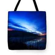 First Light At The Lake Tote Bag