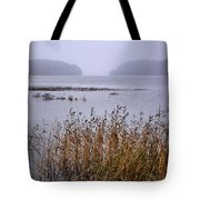 First Snow Falling Tote Bag