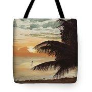 Fisherman At Sunrise Tote Bag