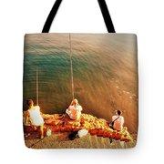 Fishermen In Beirut  Tote Bag