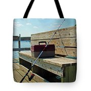 Fishin' Pole Tote Bag