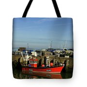 Fishing Boats At Whitstable Harbour 02 Tote Bag