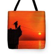 Morning Fishing 1 Tote Bag