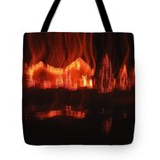 Flaming Houses Lights Water Reflection Christmas Arizona City Arizona 2005 Tote Bag