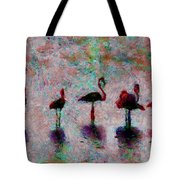 Flamingos Family Tote Bag