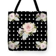Floral Rose Cluster W Dot Bedding Home Decor Art Tote Bag