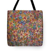 Flower Galaxy Tote Bag
