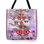 Flower Mania Anemone Fantasy Wave Design Created Of Garden Colors Unique Elegant Decorations Tote Bag