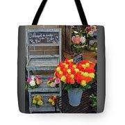 Flower Shop Display In Paris, France Tote Bag