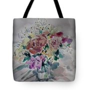 Flowers In A Glass Tote Bag