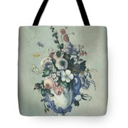 Flowers In A Rococo Vase Tote Bag