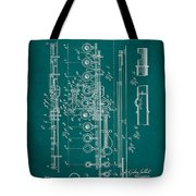 Flute Patent Drawing 2f Tote Bag