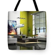 Fly The Friendly Skies Art Tote Bag