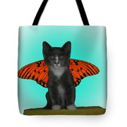 Flying Kitty Tote Bag