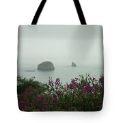 Foggy Viewpoint Tote Bag