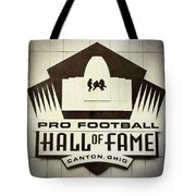 Football Hall Of Fame #1 Tote Bag