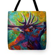 Forest Echo - Bull Elk Tote Bag