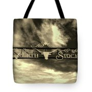 Fort Worth Stockyards District Archway Tote Bag