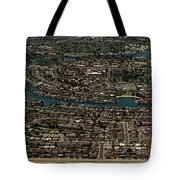 Foster City, California Aerial Photo Tote Bag