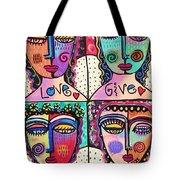 Four Gemstone Angels  Tote Bag by Sandra Silberzweig