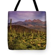 Four Peaks Golden Hour  Tote Bag