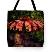 Fragmented Echinacea Tote Bag