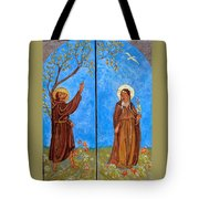 Francis And Claire Triptych Tote Bag