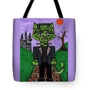 Frankenstein Cat Tote Bag